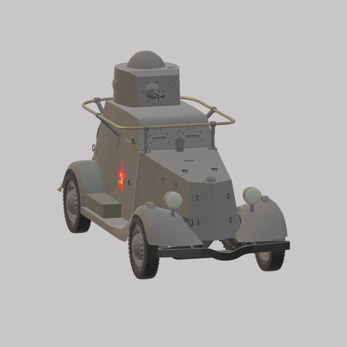 Panzerauto BA 20 Rote Armee - TPA-Agency | 3d-modelling