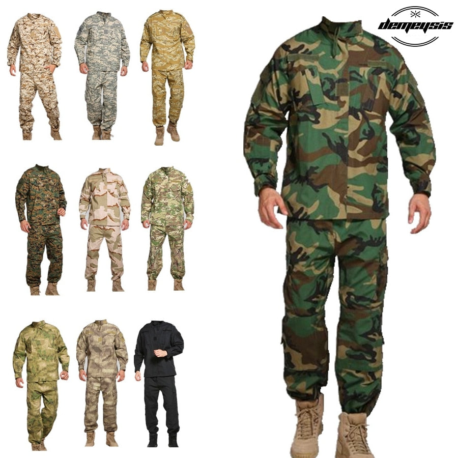 Tac Uniform Shirt + Pants Camouflage Pattern