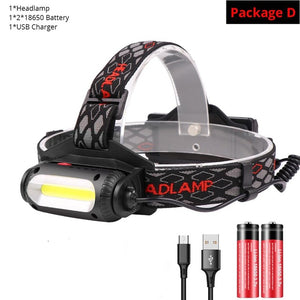 TRLIFE 3000 Lumens USB Rechargeable LED Headlamp