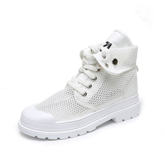 Women Casual Canvas Hiking Boots