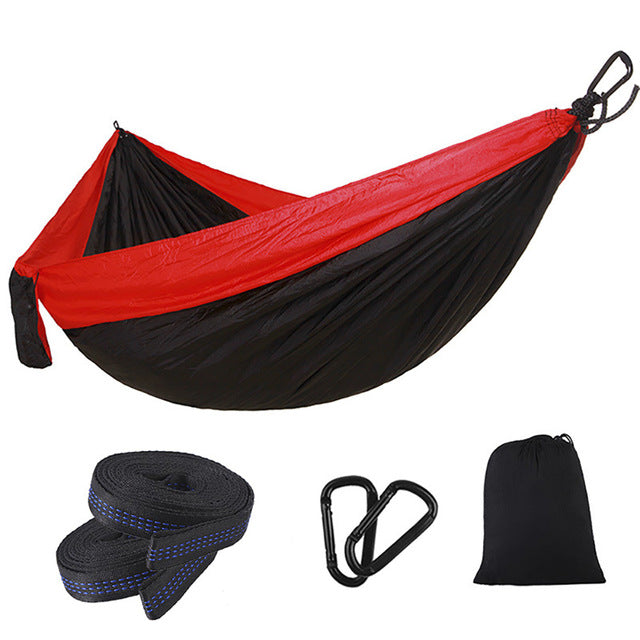 Portable Camping Hammock with Double Hammock Tree Straps