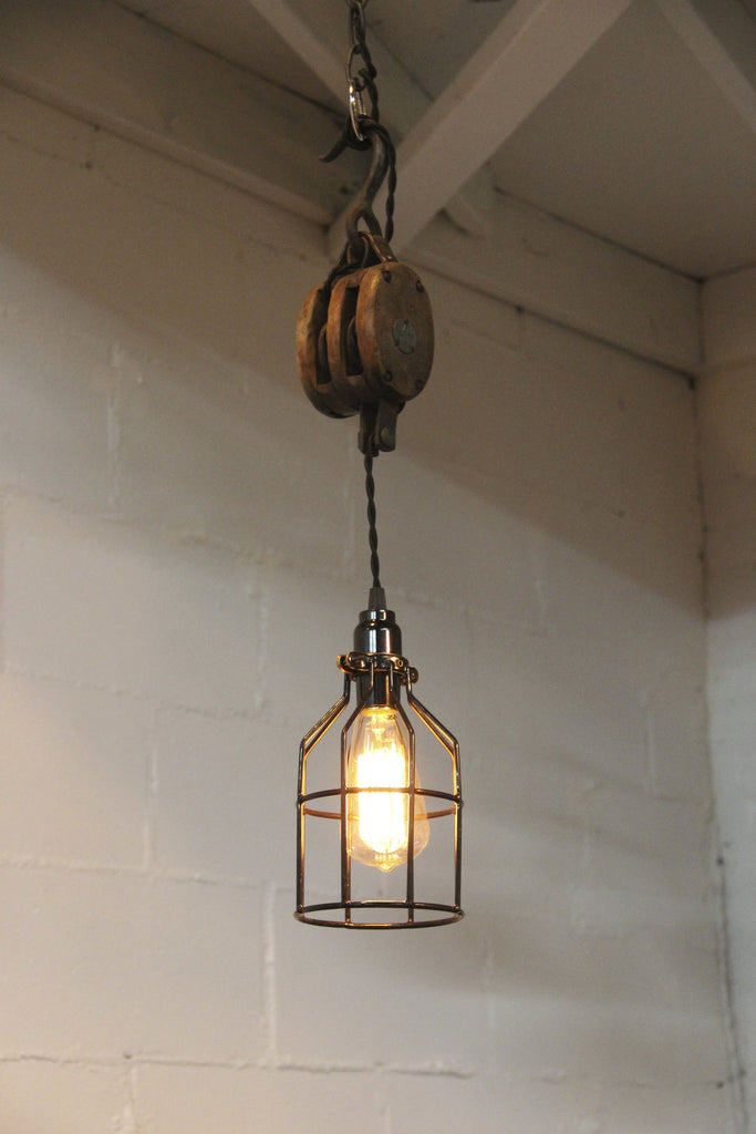 pulley lighting. Pulley Light With Cage Lighting