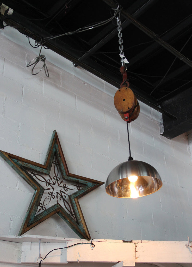 Heavy Duty Pulley Lamp with Steel Dome | Lionworks Designs