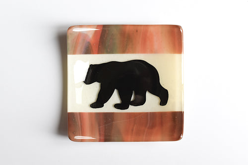 Fused Glass Plates by California Native Glass (Yurok)