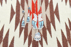Zuni Carved Sun Necklace and Earring Set