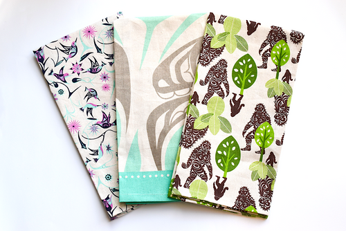 Printed Tea Towels with Indigenous Design