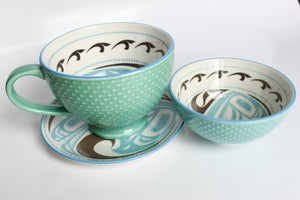 Porcelain Native Art Mugs