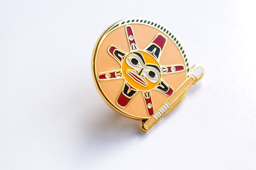 Sun Drum Enamel Pin