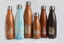 Load image into Gallery viewer, Six water bottles consisting of bottles with various tints and graphic designs on each.