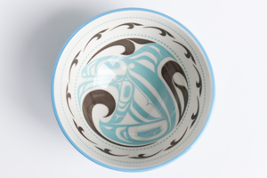 Porcelain Native Art Bowl