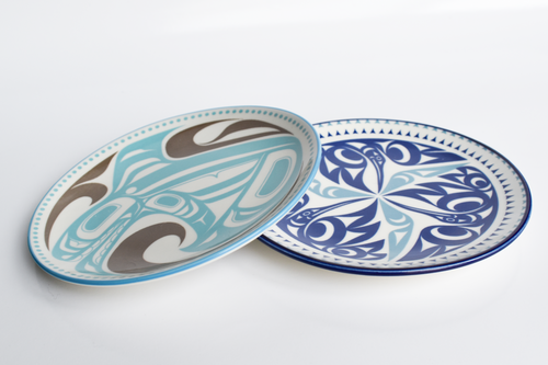 Porcelain Native Art Plates