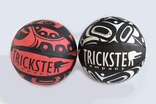 Trickster Basketball by Rico and Crystal Worl, Tlingit