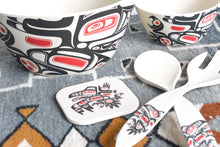 Load image into Gallery viewer, Bamboo Fiber Serveware: Running Raven by Morgan Asoyuf, Tsimshian