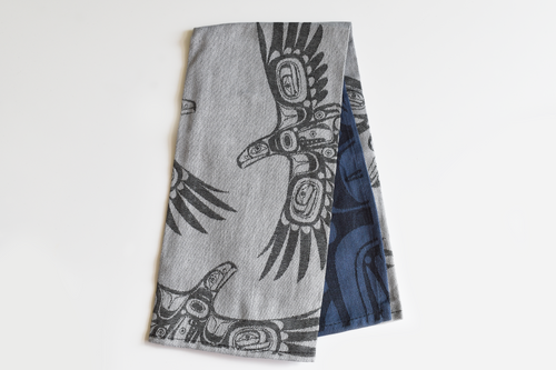Native Print Tea Towel in Haida and Coast Salish designs