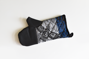 Native Print Oven Mitt in Haida and Coast Salish designs