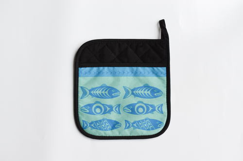 Native Print Pot holder in Haida and Coast Salish designs