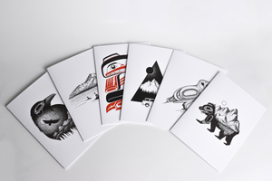 Tlingit Greeting Cards by Nick Alan Art