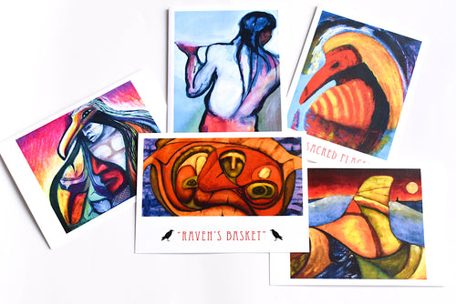 Assortment of Art cards by Frank Peterson, Makah
