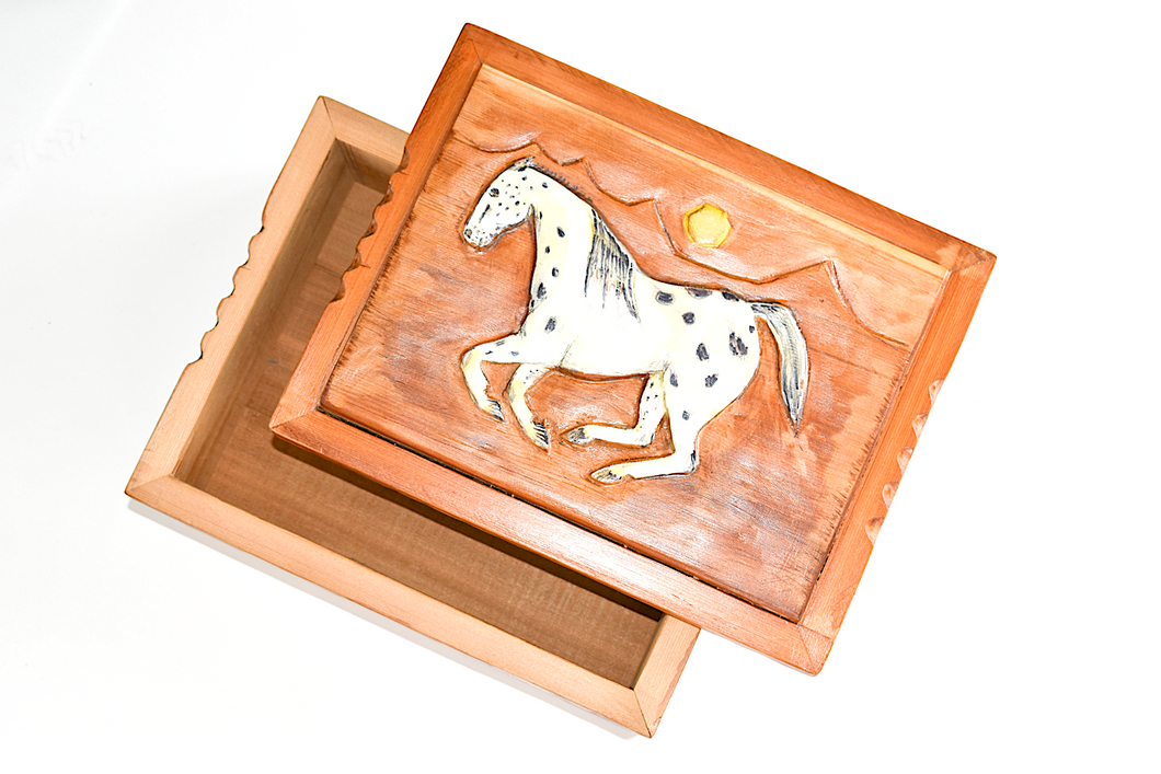 Carved Cedar Box
