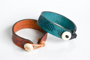 "Leather 'Home"" bracelet"