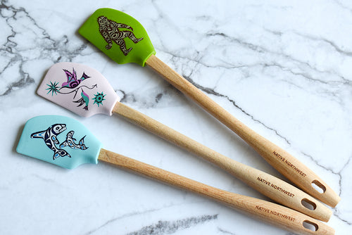 Mini Spatula with Indigenous Design