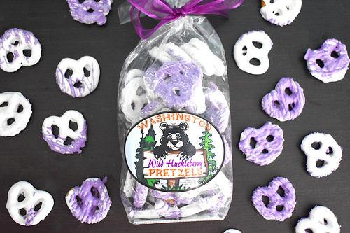 Wild Huckleberry Chocolate Pretzels