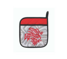 Load image into Gallery viewer, Native Print Pot holder in Haida and Coast Salish designs
