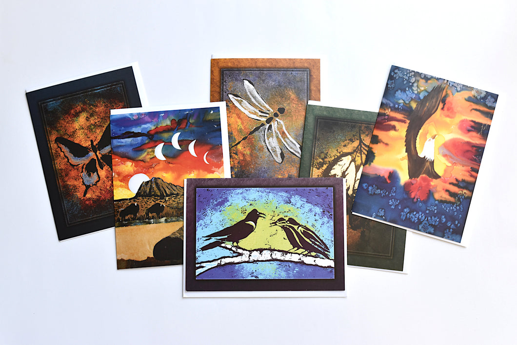 Set of Six Assorted Sandy Swallow Art Cards