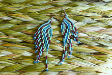 Load image into Gallery viewer, Beaded Brick Stitch Fringe Earrings
