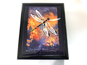 Lacquer Dragonfly Keepsake Box by Sandy Swallow, Lakota and Cheyenne