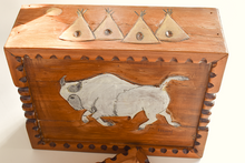 Load image into Gallery viewer, Carved Cedar Box