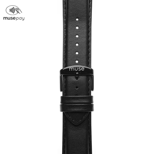 Foulard Black Leather NFC Strap