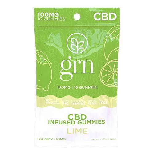 Broad Spectrum CBD Gummies 10ct. Bags Lime