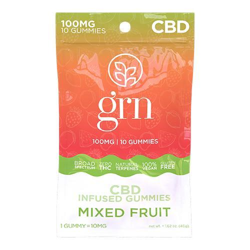 Broad Spectrum CBD Gummies 10ct. Bags Mixed Fruit