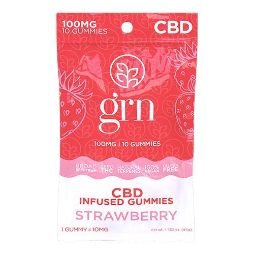 Broad Spectrum CBD Gummies 10ct. Bags Strawberry