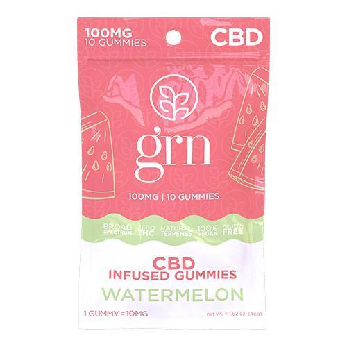 Broad Spectrum CBD Gummies 10ct. Bags Watermelon