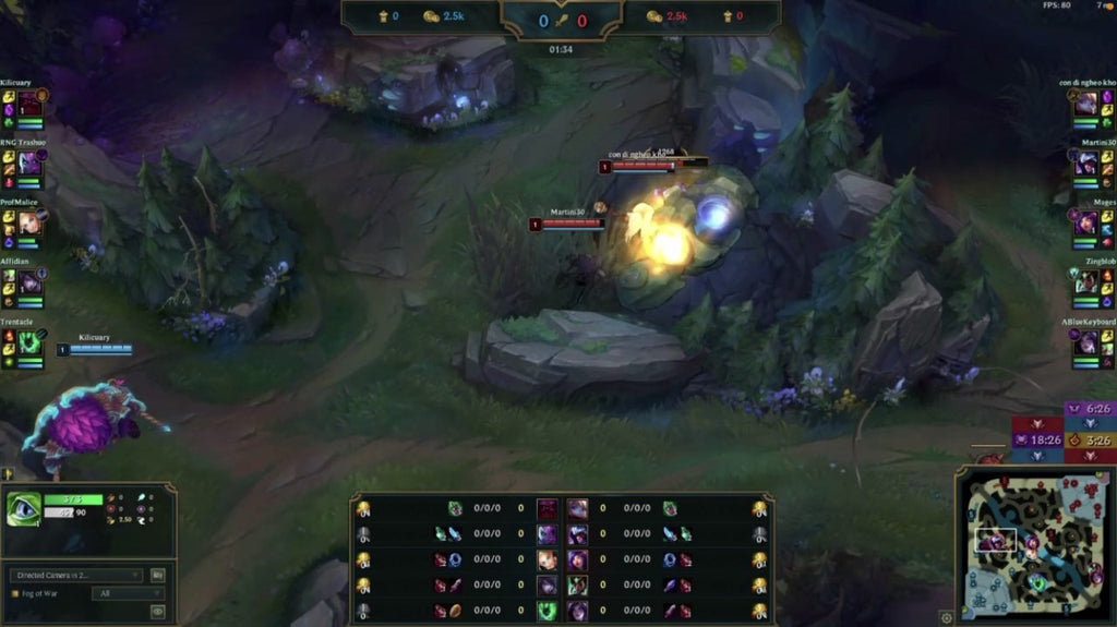 League of Legends Team Playing a Game