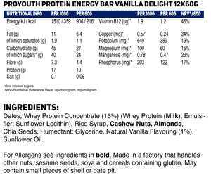 Load image into Gallery viewer, ProYouth Natural Protein Energy MIX BOX - 12 x 60g