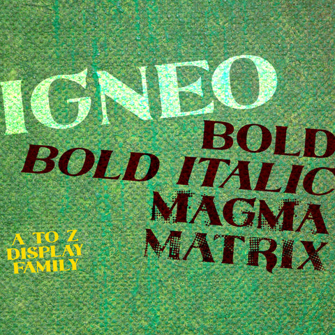 Igneo Display Font