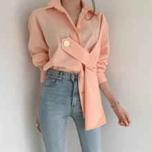 Load image into Gallery viewer, Spring Long Sleeve Shirts Women 2020 Korean Designer Fashion Office Ladies Elegant Solid Chic Blouse Causal Female Tops Pink