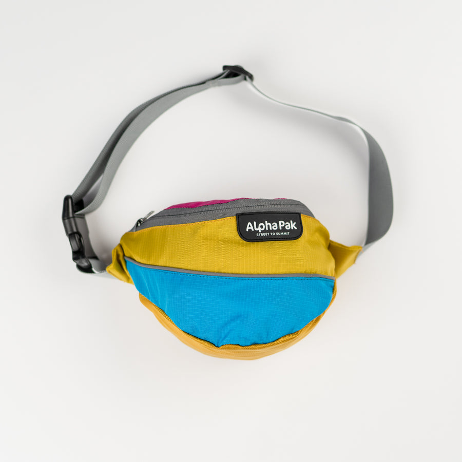 Blue Pink Yellow and Gray Wanderer Hip Fanny Pack