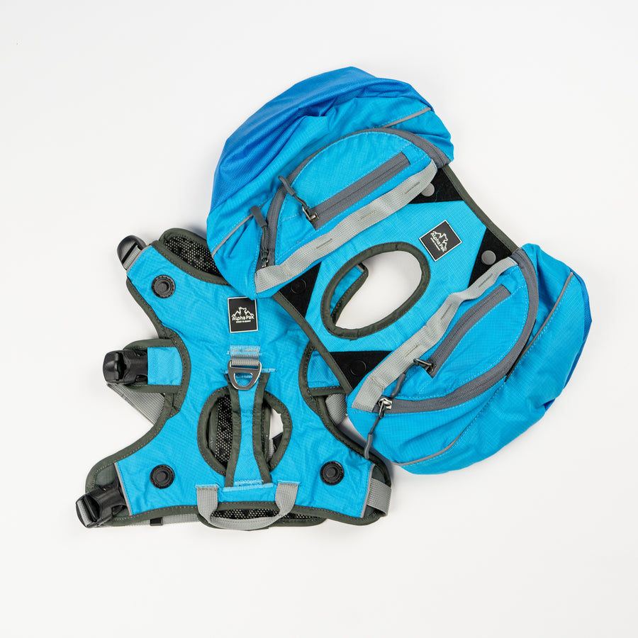 Pathfinder Blue Dog Latch Pack with EZ Fit Harness