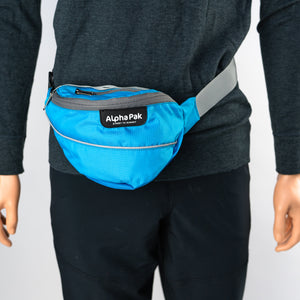 Pathfinder Hip Fanny Pack Blue and Gray