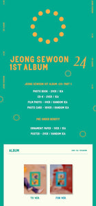 Jeong Se Woon - Album Vol.1 [<24> Part.1]