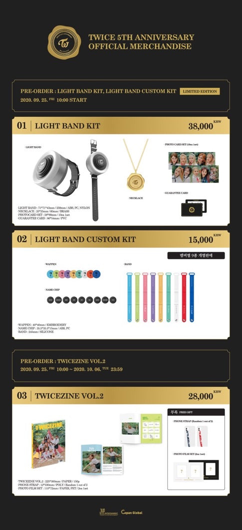 TWICE 5TH ANNIVERSARY OFFICIAL MERCHANDISE