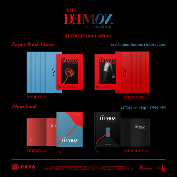 DAY6 - Mini Album Vol.6 [The Book of Us : The Demon]