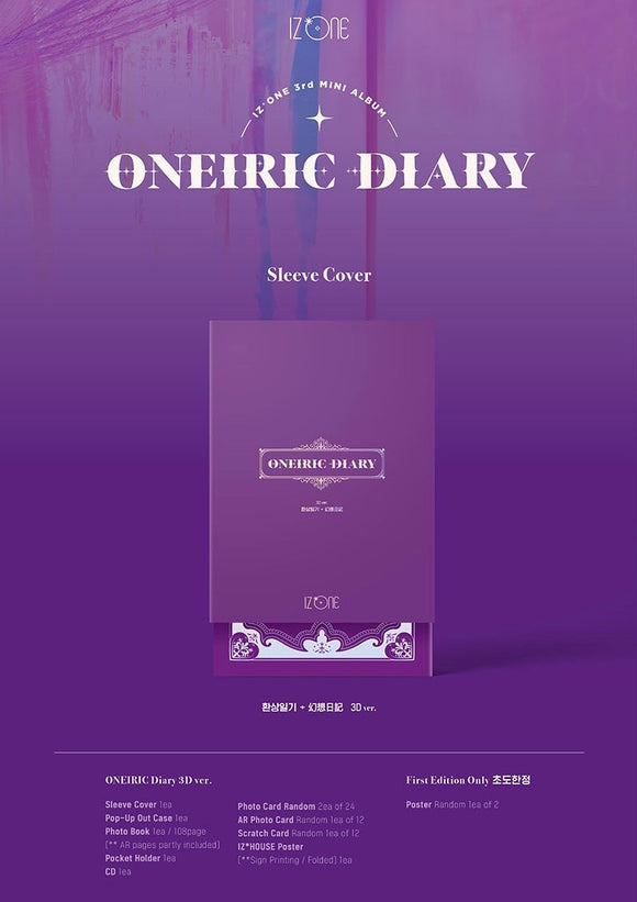 IZ*ONE - Mini Album Vol.3 [Oneiric Diary] (3D Ver.)