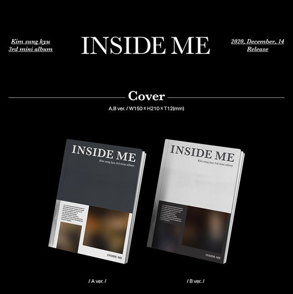 KIM SUNG KYU - Mini Album Vol.3 [INSIDE ME]