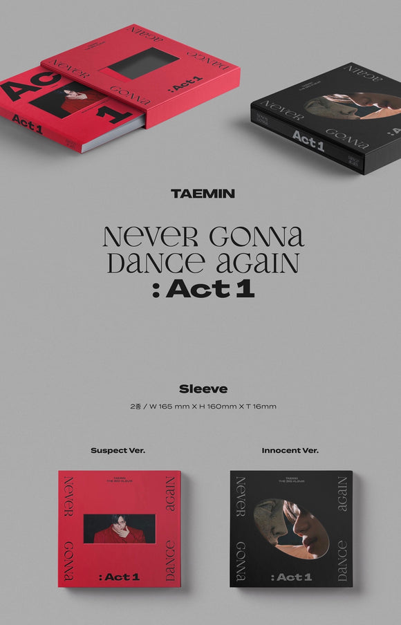 TAEMIN - Album Vol.3 [Never Gonna Dance Again : Act 1]