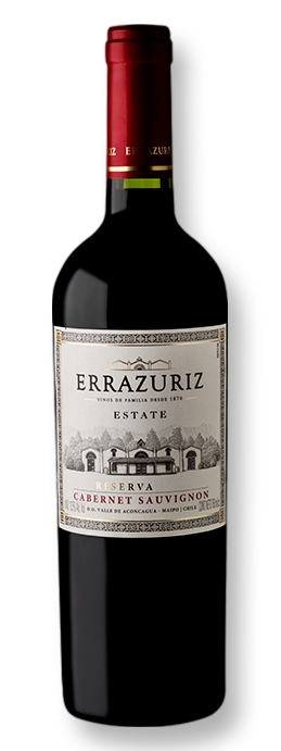 Errazuriz Estate Series Cabernet Sauvignon Reserva 2018 750 mL - Grand Cru Vinhos